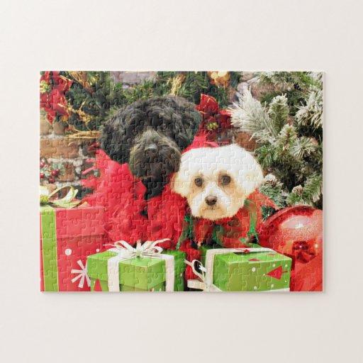Navidad - maltés - Annie y YorkiePoo - Hannah Puzzle