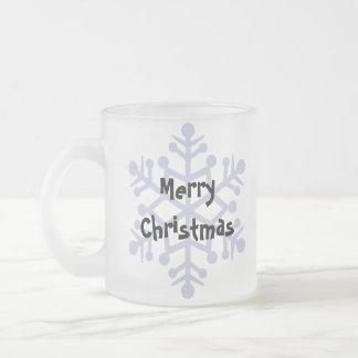Navidad maltés (perrito cortado) taza de café esmerilada