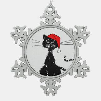 Navidad malvado del gato negro del Grunge