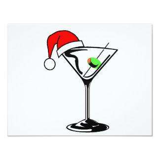 """Navidad Martini Invitación 4.25"""" X 5.5"""""""