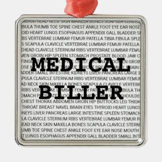 Navidad médico médico de la terminología de Biller Adorno Navideño Cuadrado De Metal