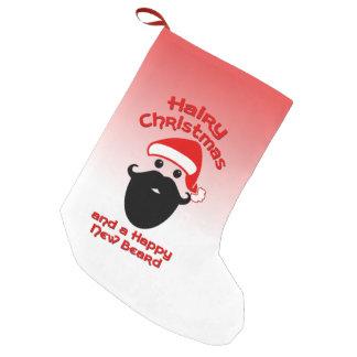 Navidad melenudo, nueva barba feliz calcetín navideño pequeño