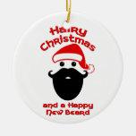 Navidad melenudo, nueva barba feliz adorno de reyes