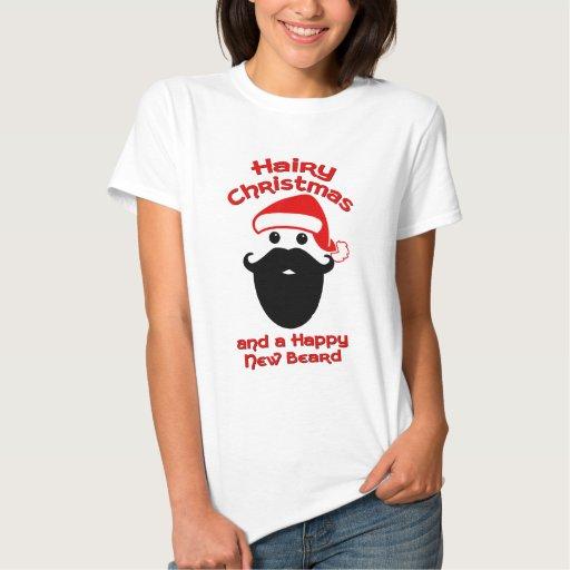 Navidad melenudo, nueva barba feliz tshirts