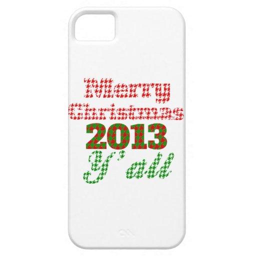 Navidad meridional 2013 de Houndstooth iPhone 5 Case-Mate Carcasa