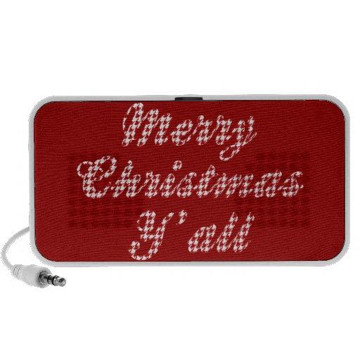 Navidad meridional que saluda Houndstooth Laptop Altavoces