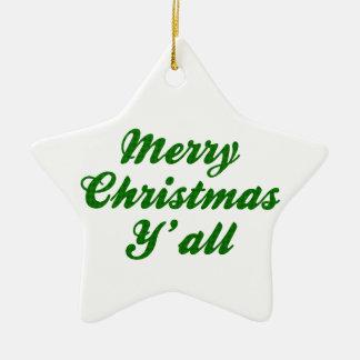 Navidad meridional que saluda Houndstooth Adorno De Cerámica En Forma De Estrella