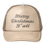 Navidad meridional que saluda Houndstooth Gorros Bordados