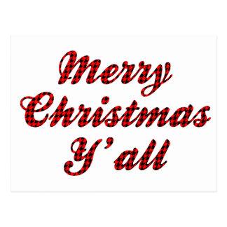 Navidad meridional que saluda Houndstooth Postal