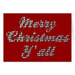 Navidad meridional que saluda Houndstooth Tarjeta De Felicitación
