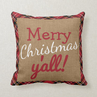 Navidad meridional usted almohada de la arpillera cojín decorativo