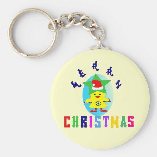 Navidad ♫♥Merry Pollo-Santa Keychain♥♪ básico Llaveros Personalizados