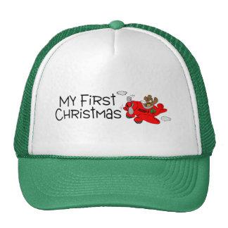 Navidad mi primer navidad (oso y avión) gorro