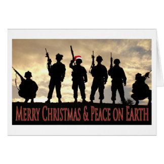 Navidad militar tarjeta de felicitación