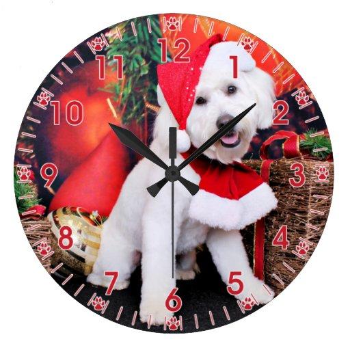 Navidad - mini Doodle - Winston Reloj De Pared