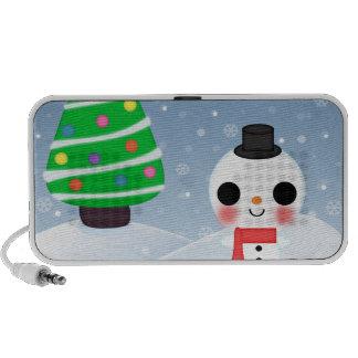 Navidad mismo de un Kawaii Laptop Altavoz