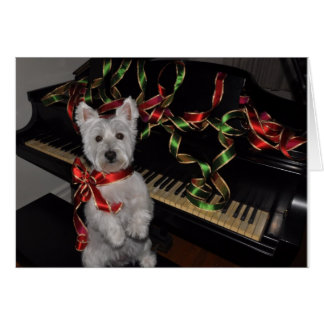 Navidad mismo de un Westie Felicitación