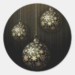 Navidad misterioso - ornamentos de oro del copo de pegatina