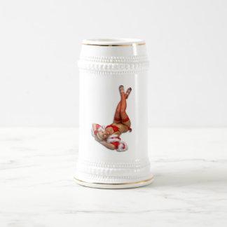 Navidad modelo jarra de cerveza