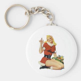 Navidad modelo llavero redondo tipo pin