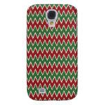 Navidad modelo rojo y verde de Chevron de zigzag