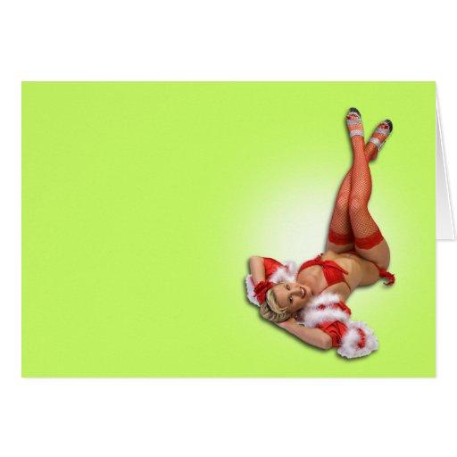 Navidad modelo tarjeta de felicitación