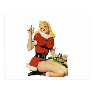 Navidad modelo tarjeta postal