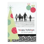 Navidad moderno 5 tarjetas de la foto x7 invitación 12,7 x 17,8 cm