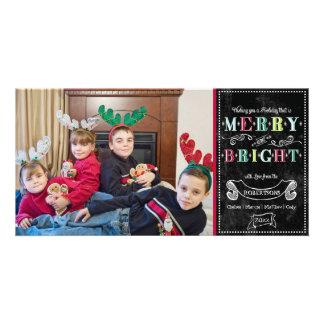 Navidad moderno de la foto de los felices días de  tarjeta fotográfica