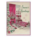 Navidad moderno de los saludos de las estaciones d felicitacion
