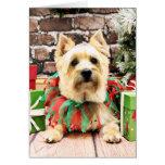 Navidad - mojón Terrier - Lola