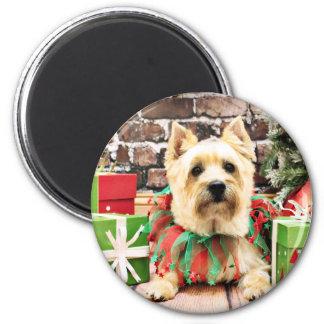 Navidad - mojón Terrier - Lola Iman De Frigorífico