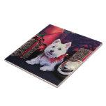 Navidad - montaña del oeste Terrier - Madison Azulejo Cerámica