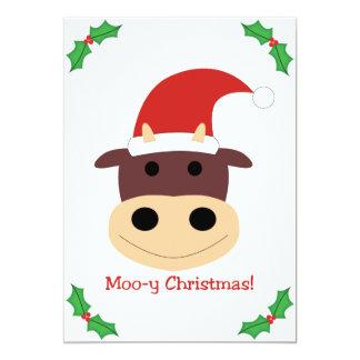 ¡Navidad MOO-y! Regalos de vacaciones y tarjetas Invitaciones Personalizada