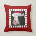 Navidad Moory de la vaca Cojines