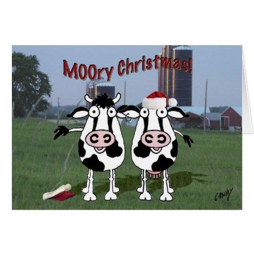 ¡Navidad MOOry! Tarjeta De Felicitación