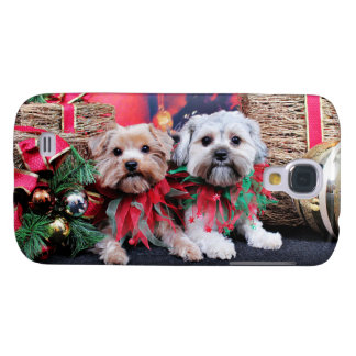 Navidad - Morkie - Jackie y Tabby Funda Para Galaxy S4