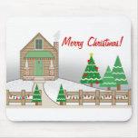 Navidad Mousepad de la cabina de las luces de navi Alfombrillas De Raton