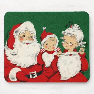 Navidad Mousepad de la familia de Santa del Alfombrilla De Raton