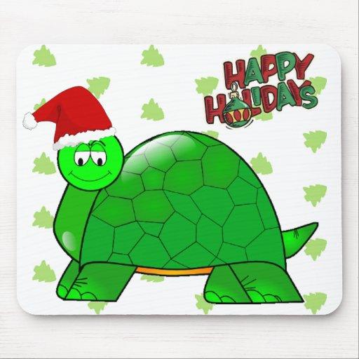 Navidad Mousepad de la tortuga