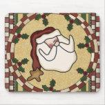 Navidad Mousepad de Papá Noel Alfombrilla De Ratones