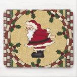 Navidad Mousepad de Papá Noel y del acebo Alfombrillas De Raton