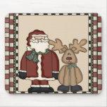 Navidad Mousepad de Santa y del reno Tapete De Ratones