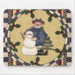 Navidad Mousepad del muñeco de nieve Alfombrilla De Ratones