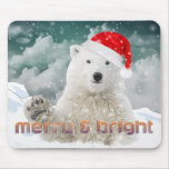 Navidad Mousepad del oso polar el | Beary de Santa