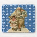 Navidad Mousepad del padre del vintage Alfombrillas De Ratón