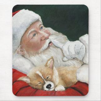 Navidad Mousepad del perrito de Santa y del Corgi
