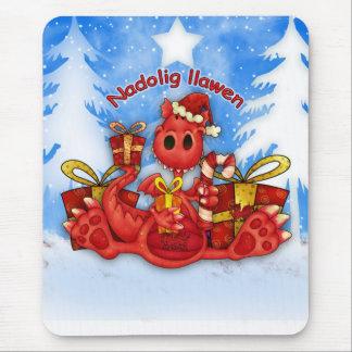 Navidad Mousepad/Mousemat de Nadolig Llawen Mousepads