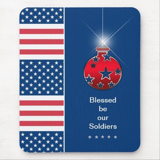Navidad Mousepad - soldado militar - los E.E.U.U.