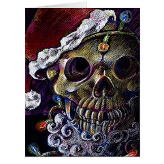 Navidad muerto tarjeta de felicitación grande
